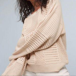 MOTH Resse Kimono Cream Pullover Sweater